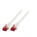 WSS CAT.6+ Patchkabel, 250MHz, S/FTP, 2x RJ45 STP,  LSZH, weiss - 1m